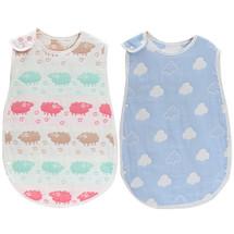 KF Baby 2pc Muslin Sleep Wearable Blanket Sleeping Bags Infants Night Wrap