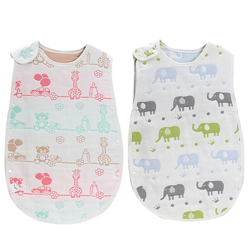 KF Baby set of 2 Muslin Sleep Wearable Blanket Sleeping Bags Infants Night Wrap