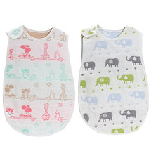 KF Baby set of 2 Muslin Sleep Wearable Blanket Sleeping Bags Infants Night Wrap