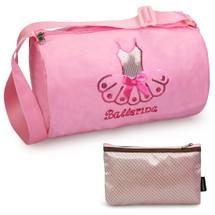 kilofly Ballerina Ballet Tutu Dance Bag + Handy Pouch