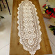 kilofly Handmade Crochet Cotton Lace Table Runner Tablecloth, 15 inch