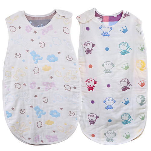 KF Baby Muslin Sleep Bag Wearable Blanket, Set of 2 [Infants to Toddlers]