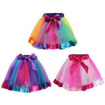 kilofly 3 Girls Ballet Dance Rainbow Tutu Princess Tulle Skirts