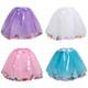 kilofly 4 pcs Girls Ballet Tutu Princess Party Puffy Ball Tulle Skirts Dress