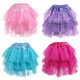 Kilofly 4 pcs Girls Ballet Tutu Pleated Princess Party Fluffy Tulle Skirt Dress