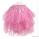 Kilofly 4 pcs Girls Ballet Tutu Pleated Princess Party Fluffy Tulle Skirt Dress