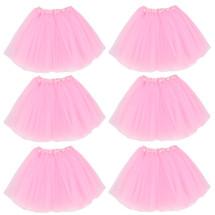 kilofly 6pc pink Girls Ballet Tutu Kids Birthday Princess Party Favor Dress Skirt Set