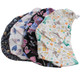 kilofly 4pc Women's Adjustable Scrub Cap Sweatband Bouffant Hats Value Set
