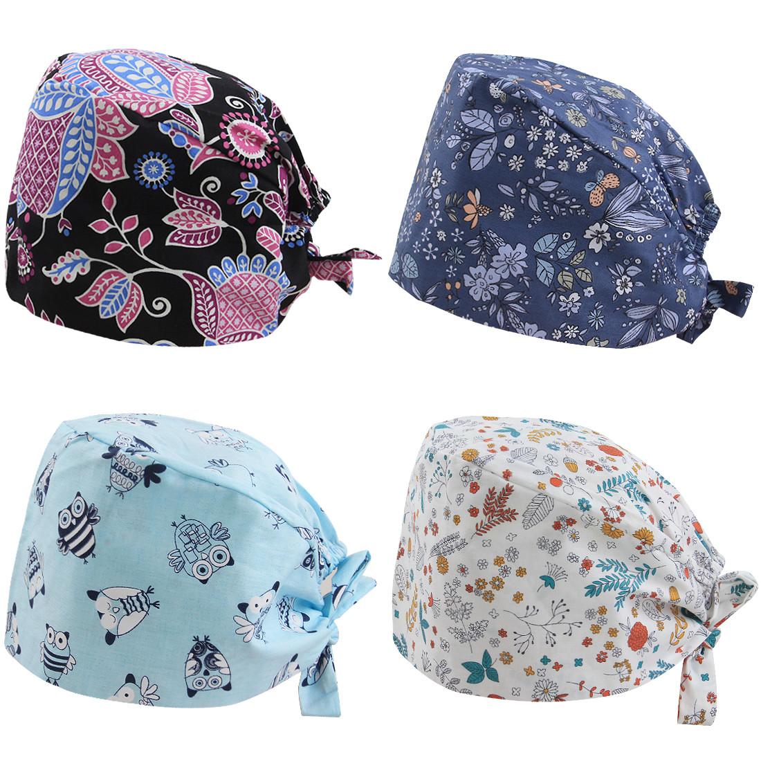 61cdf9362a29e kilofly Women Men Adjustable Scrub Cap Sweatband Bouffant Hats Value Set of  4. See more images