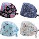 kilofly  Women Men Adjustable Scrub Cap Sweatband Bouffant Hats Value Set of 4