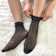 kilofly 5 Pairs Women Lace Fishnet Socks Ankle Dress Liner Stockings