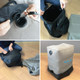kilofly Inflatable Foot Rest Cushion Adjustable Airplane Travel Pillow + Pump Bag
