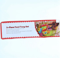 3 Piece Food Tong Set Green