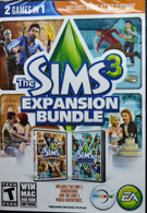 """PC Video Game """" The Sims 3 Expandable Bundle """" 2 Games In One"""