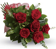 "The best you can get these Columbian roses are such a gorgeous shade of red  Nothing say's ""i love you"" more than this .......unless you add a teddy or chocolates!"