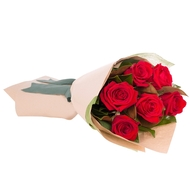 Valentine's Blush! flat bouquet with Magnolia