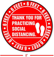 Social Distancing Floor Decal Sticker - REGULAR
