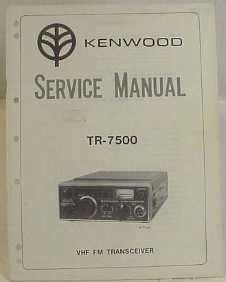 Kenwood TR-7500 Service Manual Copy on