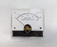 RL Drake L4-B  Amplifier Grid MA & Plate Volts Meter