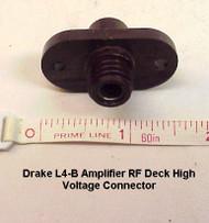 RL Drake L4-B Amplifier Millen High Voltage Connector Flange for rear panel (used)