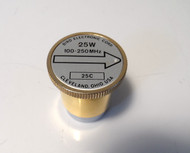 Bird 25C Element (Gold) 100-250 MHz 25 Watt AS New Condition