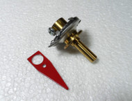6 to 1 Reduction Drive with Red Pointer for  Amplifiers & Tuners, Fits 1/4 inch shaft