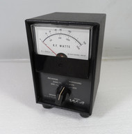 RL Drake W4 Watt Meter in Excellent Condition with Reproduction SWR Card S/N 2657