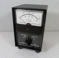 RL Drake WV-4  VHF Watt Meter Late S/N in Excellent  Condition with SWR Card  S/N 1528