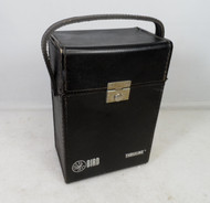 Bird 43 Black Genuine Leather Case in Excellent Condition Holds 6 Elements