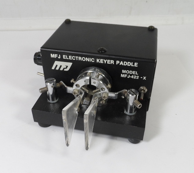 MFJ-422X Electronic Keyer on BY-1 Iambic Paddle