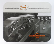 Collins S Line Mouse Pad Featuring the S-Line with 30S-1 Amplifier Last One!