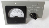 Rockwell Collins Commercial Meter & Switch Panel with Correct Directional Coupler, in Excellent Condition