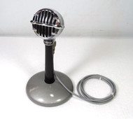 Astatic JT-30-C Desk Microphone, With Stand, As New in Original Box, Has the Rare Ceramic Element suitable for Vintage Ham Radio Gear and for use with Harmonicas.