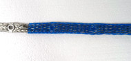 Electric Motion Co. EM2025 Station Bonding Ground Strap with Eyelets every 3 inches #6 AWG  Tinned Copper flat wire with blue webbed covering. 25 Ft Roll