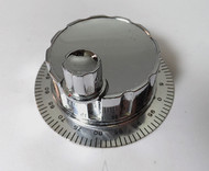 Heathkit Marauder HX-10 Large Chrome Spinner Tuning Knob & Calibrated Skirt NEW !