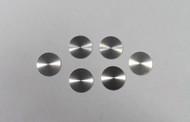 RL Drake, Heathkit, Swan, Small 9/16 Inch Spun Aluminum  Knob Inlay (6)