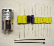 Collins 75A-2 NEW Capacitor Replacement Kit Including Chassis Mount Multi Can