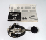 EF Johnson Speed-X Straight Key in Excellent Condition in Original Box with the Manual