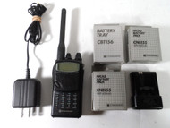 Vertex Standard C156A,  2 Meter FM Handheld Transceiver with Extra Battery Packs