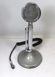 Astatic D-104 Amplified Desk microphone with T-UG8 Stand Wired for Collins & Johnson with 80MC2 Connector
