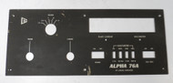 Alpha 76A Amplifier Front Panel in Good Condition (for refinishing)