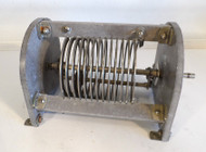 EF Johnson 12.3 uH High Quality, Silver Plated Roller Inductor  from Broadcast Transmitter in Excellent Condition P/N 222-5
