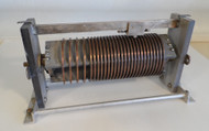 EF Johnson 25 uH High Quality, Silver Plated Roller Inductor  from Broadcast Transmitter in Excellent Condition