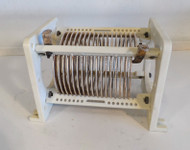 Commercial 19 uH High Quality, Silver Plated Fixed Inductor  from Broadcast Transmitter in Excellent Condition