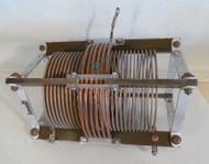 Gates / Harris 60 uH High Quality,  Fixed Inductor with added outer 7 uH Coil  from Broadcast Transmitter in Excellent Condition P/N 67-FC-2856