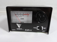 Vanco SWR-3 Small SWR Meter covers 1.7 to 30 MHz 10/100 watt, for Ham or CB Radio in Like New Condition