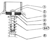 "(6) TEE VALVE STEM SCREW, ""C"" SERIES (WR2-3-3C, WR2-3-3MXF, WR2-4-3C, WR7-3C)"