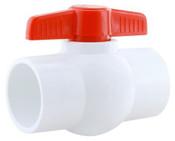 """1-1/4"""" PVC BAL VALVE-SXS (PV 400-012S)"""
