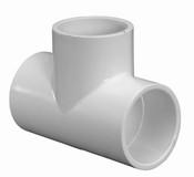 "1/2"" PVC Tee Slip Sch 40 (PF 401-005)"