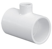 "1-1/2""X1-1/2""x1/2"" PVC Reducing Tee Slip Sch 40 (PF 401-209)"